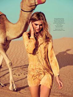 the desert: milou sluis by jonas bie for eurowoman