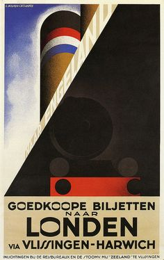 Londen by A.M. Cassandre, 1928 by kitchener.lord, via Flickr