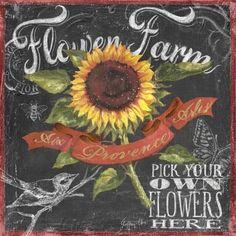 Chalkboard Art - Geoff Allen - Flower Farm
