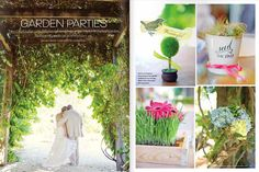 Tropical Mosiac Garden Ceremony and Reception   #luminairefoto