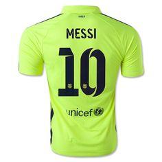 Men's 2014/15 FC Barcelona  Lionel Messi 10 Third Soccer Jersey