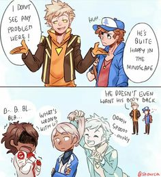 Crossover Gravity Falls / Pokemon Go  Dipper And Spark Who is Bill  And Candela, Blanche And Spark part 5/5
