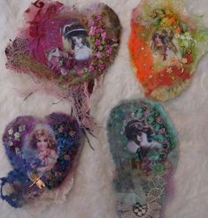 Felted and Embellished Brooches by Pat Winter Brooch