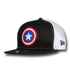 bde851dc8da Images of Captain America Black   White 59Fifty Cap Captain America  Merchandise