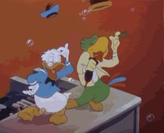 Discover & Share this Donald Duck GIF with everyone you know. GIPHY is how you search, share, discover, and create GIFs. Mickey Mouse E Amigos, Mickey Mouse And Friends, Animiertes Gif, Animated Gif, Cartoon Gifs, Cartoon Characters, Disney S, Disney Movies, Kermit Gif