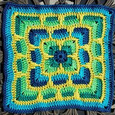 """Ravelry: Project Gallery for Larksfoot Inspired 12"""" Granny Square pattern by From Home"""
