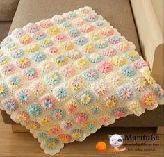 Crochet Sunflower Baby Blanket Video Tutorial.