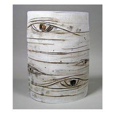 "Jamie E. Hatch. Ceramic aspen wall hanging.  14.5"" tall x 10"" wide x 5"" deep."