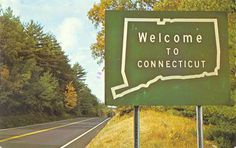 *Postcard Gems: Welcome to Connecticut: ahh lived my teen years in Westport.... some good memories, some not so good
