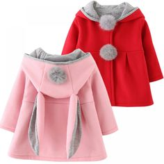 Cute Rabbit Ears Design Hooded Baby Coat  Price: $ 23.38 & FREE Shipping   #babymonitors #babylove #cutebaby #babycute #cute #cuteclothes #facebook #art #artlove #artistic #paint #paintbrush