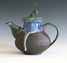 Ceramic Teapot Handmade Stoneware Teapot Ceramic by ocpottery