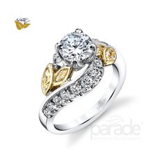 Parade Design Style from the Lyria Bridal Collection Engagement Ring photo Two Tone Engagement Rings, Engagement Ring Styles, Designer Engagement Rings, Diy Jewelry Rings, Old Jewelry, Fine Jewelry, Jewelry Making, Latest Jewellery Trends, Jewelry Trends