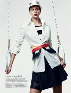 Ellinore Erichsen Gets Sporty for the February 2013 Issue of Vogue Turkey