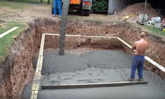 How to Dig Your Own Swimming Pool: 10 Steps (with Pictures) Small Inground Pool, Building A Swimming Pool, Swimming Pool Construction, Swimming Pools Backyard, Swimming Pool Designs, Pool Landscaping, Diy In Ground Pool, In Ground Pools, Build Your Own Pool