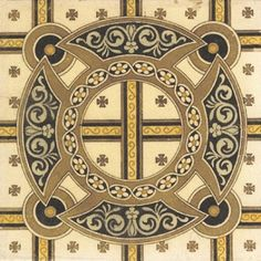 From our stunning range of reproduction tiles, this is a printed design inspired from 1890's. Known as the 'Printed & Tinted Tile' this is a pattern that really catches your eye. The use of golden yellows with the black & grey gives a regal yet modest air. This would surely pop in one of our Cast Iron Fireplaces; check out the full range of tiles & fireplaces on our website! 1890s Printed & Tinted Tile