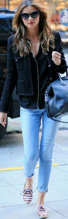 Miranda Kerr in Frame Skinny Jeans