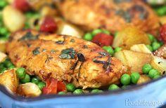 PANELATERAPIA - Blog de Culinária, Gastronomia e Receitas: Peito de Frango com Vegetais e Ervas