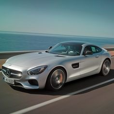 The muscular styling of the Mercedes-AMG GT S builds upon the impressive pedigree of its predecessors'. The side air outlets, each with two fins, are a modern take on a classic Mercedes-Benz feature.