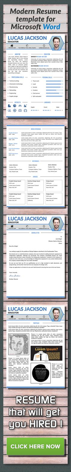 Professional Resume Template  Cover Letter References And