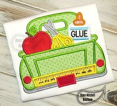 School Truck Applique - 5 Sizes! | What's New | Machine Embroidery Designs | SWAKembroidery.com Beau Mitchell Boutique