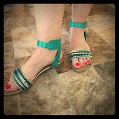 NWOT‼️MAKE AN OFFER‼️ BC Ankle Strap Sandal 💚 Brand new, only worn for pictures! Size 7.5, but fits like an 8. Narrow foot bed. BC Footwear Shoes Sandals