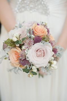 Peach and pink blush bouquet.