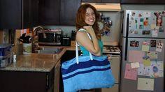 YouTube Tutorial: https://youtu.be/TYYQpFyEZHo  #DIY #Towel #Tote #Craft #Beach #Bag