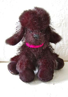 CUTE! Stuffed Plush BLACK POODLE Ganz WEBKINZ Stuffed DOG Animal HTF BREED!