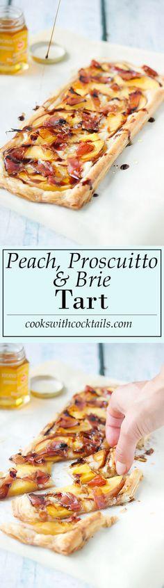 Peach, Proscuitto & Brie Tart