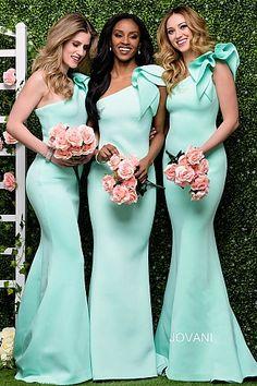 Bridesmaid Dresses Gorgeous One Shoulder Mint Green Mermaid long Bridesmaid Dress - Mint Green Bridesmaid Dresses, Mermaid Bridesmaid Dresses, Mint Green Wedding Dress, Classy Bridesmaid Dresses, One Shoulder Bridesmaid Dresses, Vestido Color Turquesa, Maid Of Honour Dresses, Mermaid Gown, Mermaid Skirt