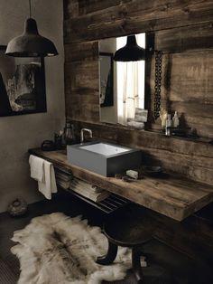 #chalet #bathroom #modernrustic