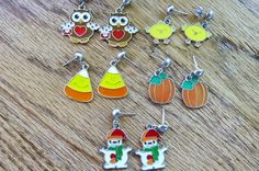 Holiday earrings Set.  5 pair of holiday by NammersCrafts on Etsy