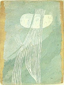 """Louise Bourgeois - untitled, 1944 - gouache on paper. 10 X 13"""" Collection Arthur Miller and Inge Morath, NY."""