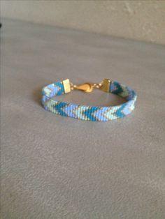 Beautiful bracelet, chevron pattern, loom, bead work