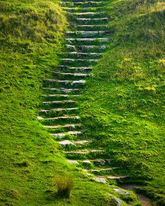 steps on a hill