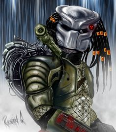 Predator photoshop paint by RonanQ on DeviantArt Alien Vs Predator, Predator Cosplay, Predator Helmet, Predator Hunting, Predator Alien, Predator Tattoo, Space Warriors, Giger Art, Aliens Movie