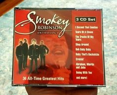 SMOKEY ROBINSON Anthology: 36 All-Time Greatest Hits 2002 - 3 CDs SHIPS FREE #ClassicRBContemporaryRBQuietStormSoul