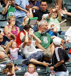 Perfectly Timed Photos Baseball Bat - Runt Of The Web