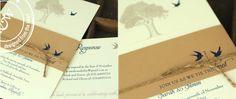 Oak tree invite - tie the knot :)