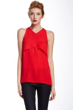 Vince Camuto V-Neck Sleeveless Keyhole Back Blouse by Vince Camuto on @HauteLook