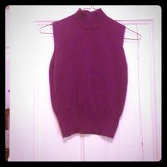 Selling this Dark purple sweater tank top in my Poshmark closet! My username is: tmprincess. #shopmycloset #poshmark #fashion #shopping #style #forsale #Sweaters