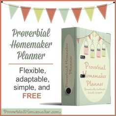Free Printable Homemaking Planner!