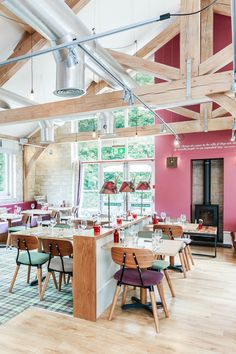 The Brook Bar & Bistro restaurant at Bath Mill Lodge Retreat offers delicious food and a friendly atmosphere.