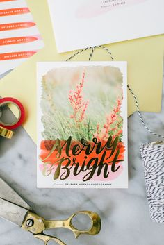 Send your loved ones a special holiday cheer with a foil-pressed greeting card from Minted.