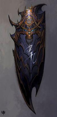 Magic Shield Dark Elves, or Druchii in Eltharin, are the dark cousins of the High Elves… Armor Concept, Weapon Concept Art, Fantasy Armor, Fantasy Weapons, Warhammer Online, Medieval Weapons, Shield Design, Arm Armor, Dark Elf
