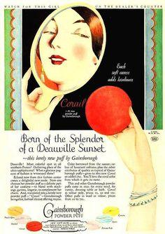 Gainsborough Powder Puff ad, April 1926.