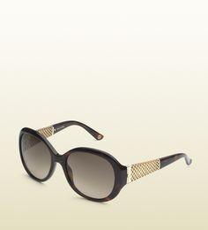 oval-frame diamantissima sunglasses