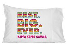 Kappa Kappa Gamma Best Big Ever Pillowcase by GreekGraffitiDorm on Etsy