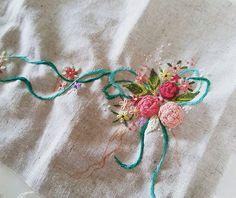 #embroidery#stitch#needlework  #프랑스자수#일산프랑스자수#자수 #민트사랑~~