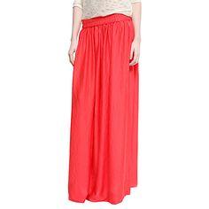 Buy Mango Satin Long Skirt, Coral Online at johnlewis.com